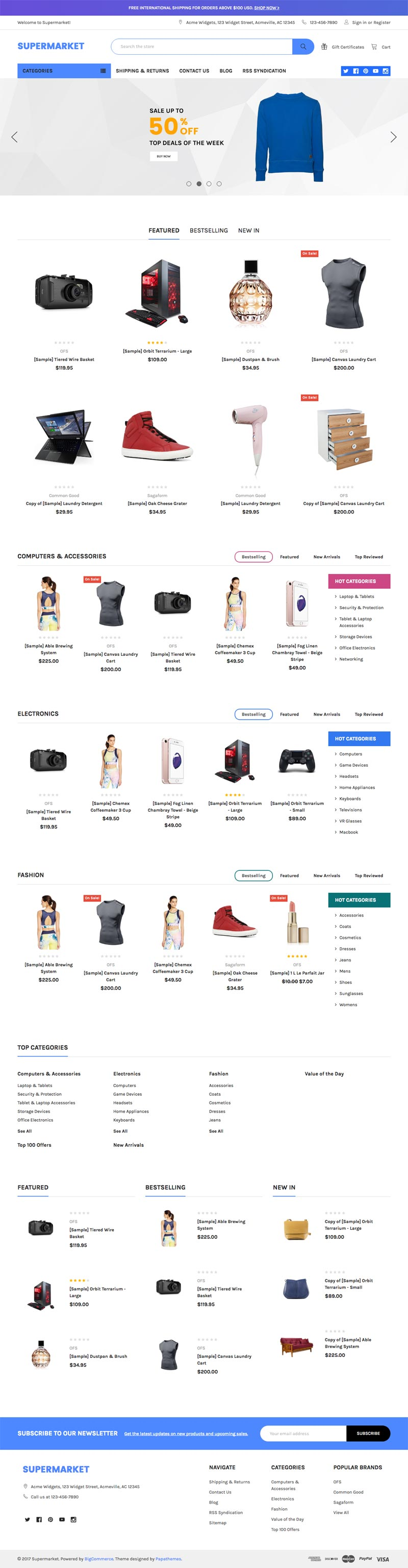 Homepage of Default Style